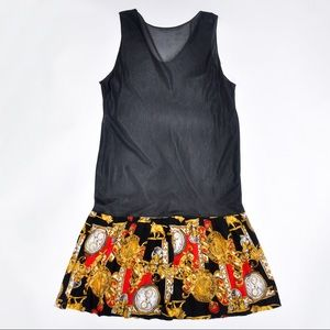 Dresses & Skirts - Vintage Versace Scarf Style Dress with Pleating